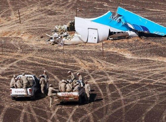 Il luogo dello schianto dell'airbus russo