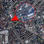 L'area degli ex-bagni in via Esterle, dove sorgerà una moschea