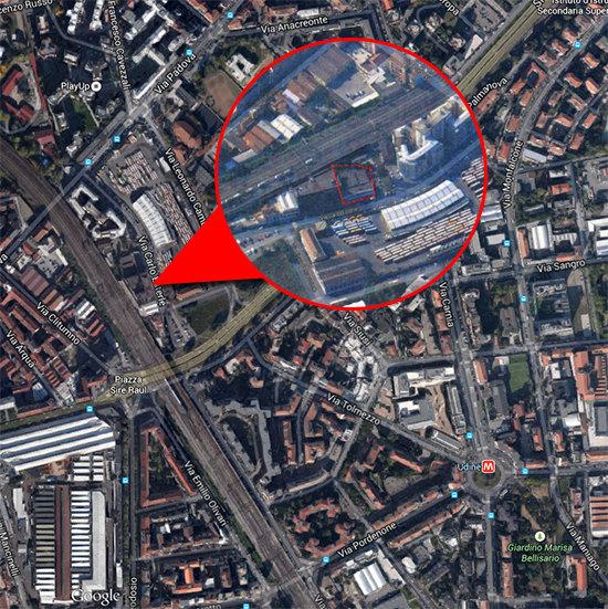 L'area degli ex-bagni di via Esterle, contesa dalle comunità islamiche