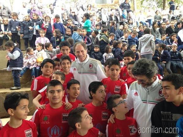 Franco Baresi in Libano incontra i bambini siriani