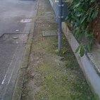 La larghezza del marciapiede lo rende impercorribile da una persona su sedia a rotelle