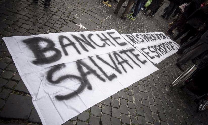 La protesta in piazza a Roma
