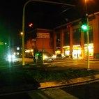 Via 2 giugno, incrocio di fronte al Municipio, a Bettola