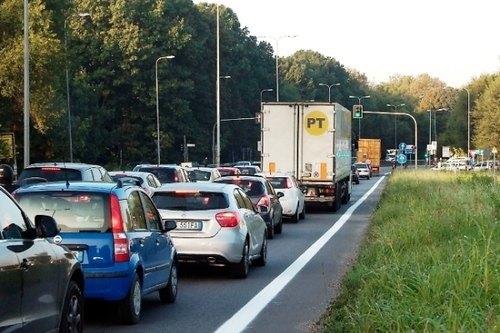 Il traffico della Paullese nel tratto di San Donato Milanese