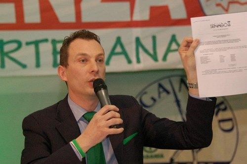 Riccardo Pase, segretario provinciale della Lega Nord