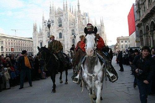 Il corteo dei Re Magi a Milano