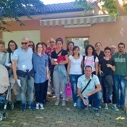 Il Comitato Genitori davanti all'asilo di San Martino Olearo