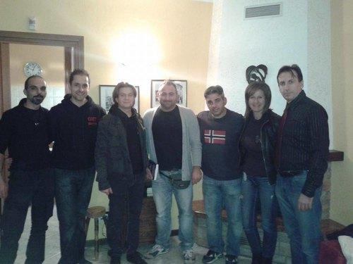 Il Ghost Hunters Team, il primo da sinistra è Edgar Atheling, il primo da destra è Roberto Ferrari