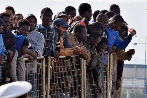 Alcuni profughi nigeriani