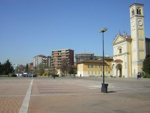 Piazza della Pieve a San Donato Milanese