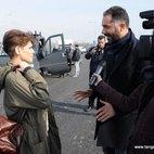 Alessandra Amoroso con il sindaco di Melegnano, Vito Bellomo