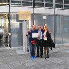 SImone Riva, il Consigliere Antonio Saggese e Vera Cocucci di Mediglia8