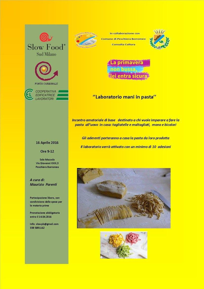 Il flyer dell'iniziativa