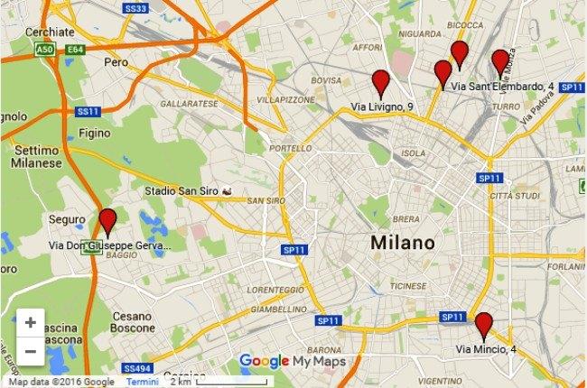 La mappa delle Case Solidali