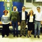 Da sinistra: Silvana De Padova, Enzo Bovio, Giovanni Cariello, Manuela Geranio, Gianmario Massari.