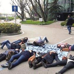 Una delle proteste inscenate dai manifestanti
