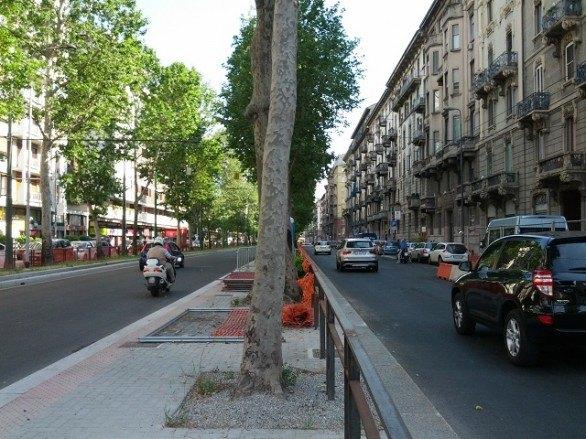 La corsia preferenziale di viale Abruzzi