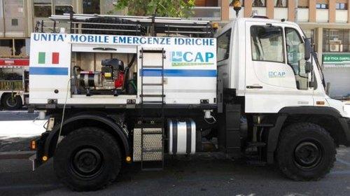 L'autobotte predisposta da Cap Holding