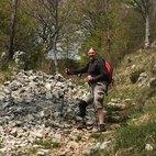 Massimo mentre fa trekking