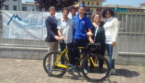 Il vincitore Emanuele Tira