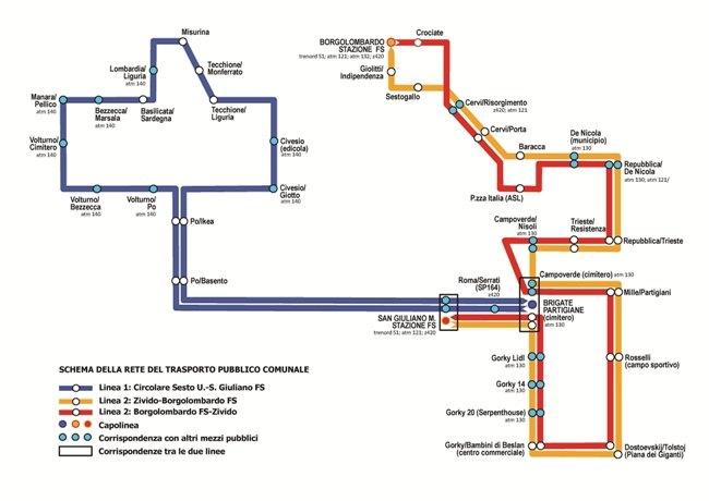 La mappa delle nuove navette
