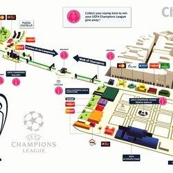 La mappa del Champions Festival Milano 2016