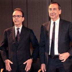 Stefano Parisi (a sx) e Beppe Sala (a dx)