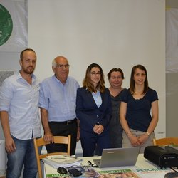 Da sinistra: Giancarlo Capriglia, Franco Ornaro, Caterina Molinari, Antonella Parisotto e Chiara Gatti