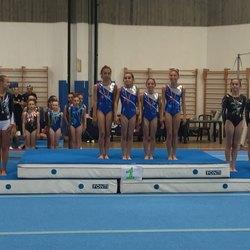 La premiazione delle ginnaste