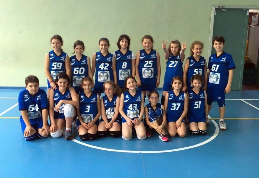 Le ragazze del Minivolley Accademia Borromeo