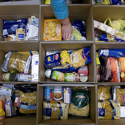 Pasta e riso sono tra i prodotti più donati