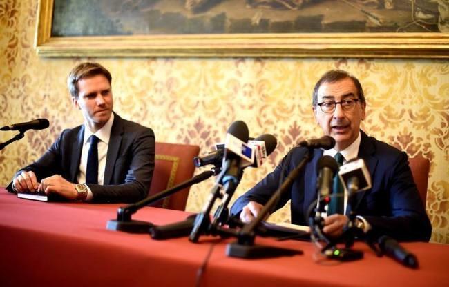Beppe Sala assieme al Capo di Gabinetto, Mario Vanni