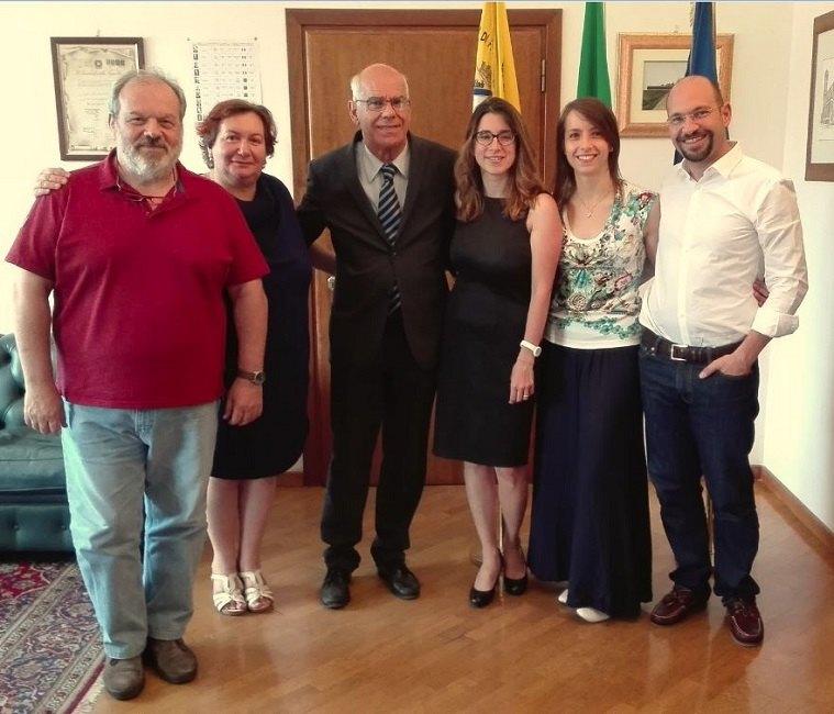 Caterina Molinari insieme ai suoi assessori