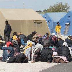 Una tendopoli di immigranti