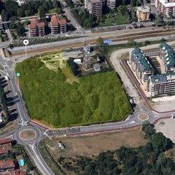 L'area dell'ex caserma a Peschiera Borromeo