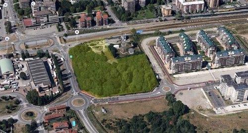 Foto aerea dell'ex base dell'aeronautica