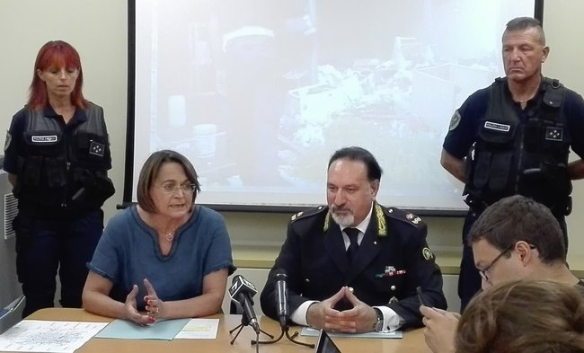 Da sx al centro: Carmela Rozza e Antonio Barbato