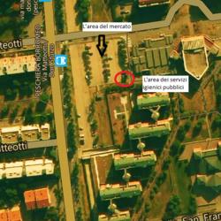 Vista aerea di via Matteotti