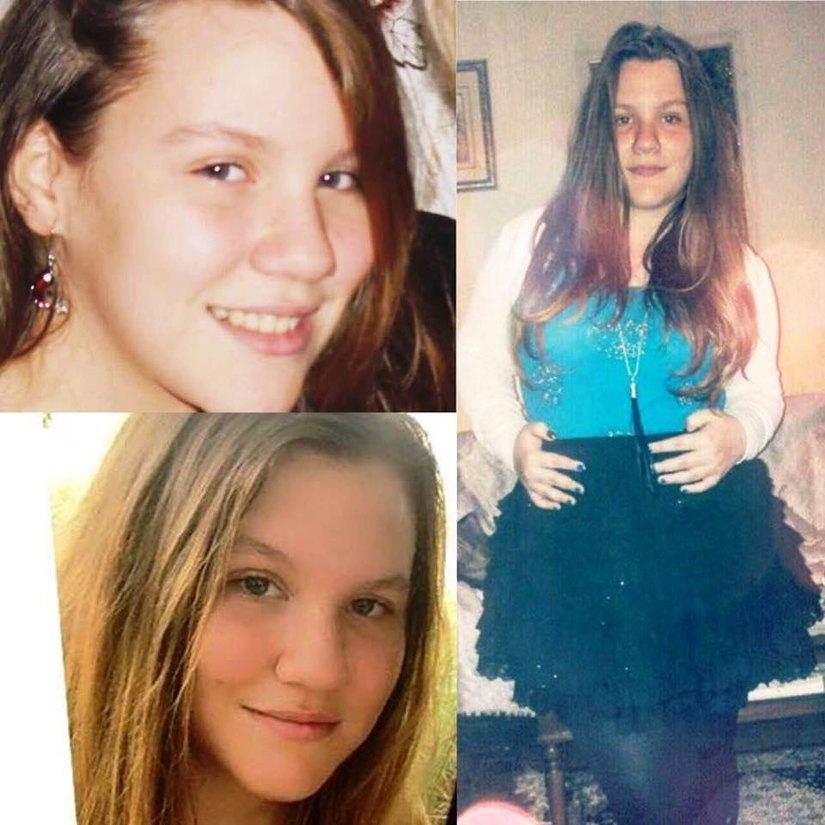 Un collage di foto della 13enne scomparsa