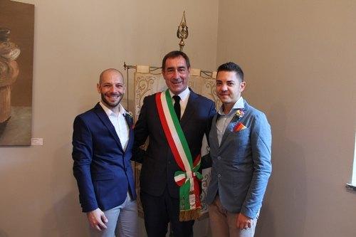 Andrea Checchi insieme a Claudio e Salvatore