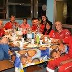 I volontari della Croce Rossa italiana nella sede di via Carducci