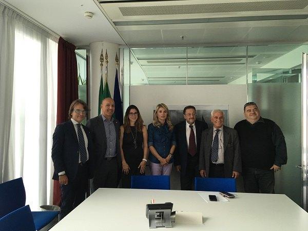 Da sinistra: Enrico Foti, Claudio Bianchi, Caterina Molinari, Viviana Beccalossi, Riccardo De Corato, Giulio Carnevale,