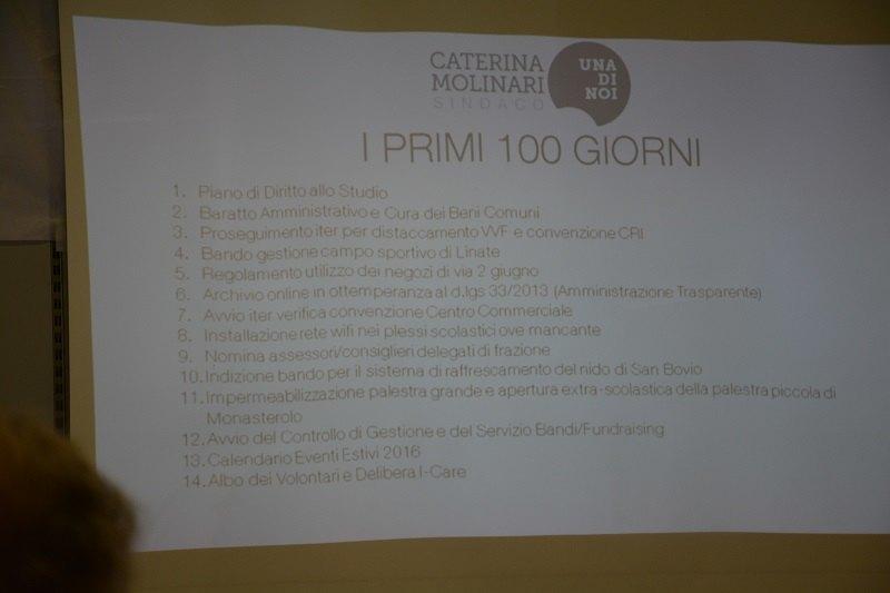 I primi 100 giorni previsti dalla giunta Molinari