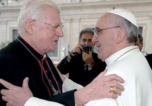 Il cardinale Scola e Papa Francesco