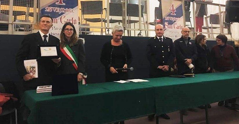 Walter Ferrari premiato dal Sindaco di Peschiera Borromeo