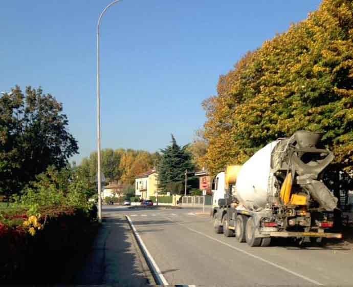 Trasporto pesante a San Bovio