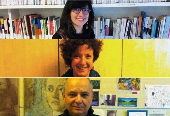 Dall'alto: Anna, Emanuela e Giovanni
