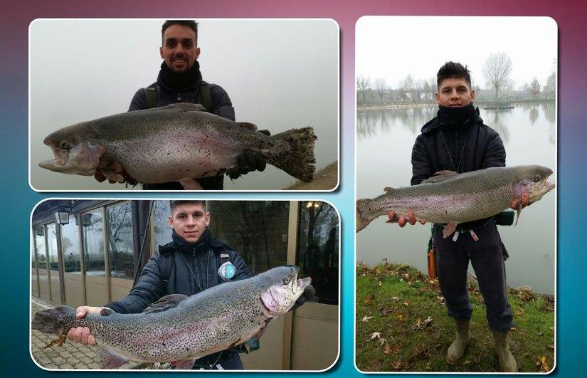 Le super trote pescate da Daniel e Ciro