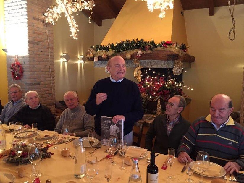 Ernesto Pellegrini durante il pranzo