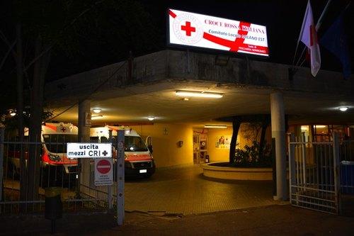 La sede della Croce Rossa